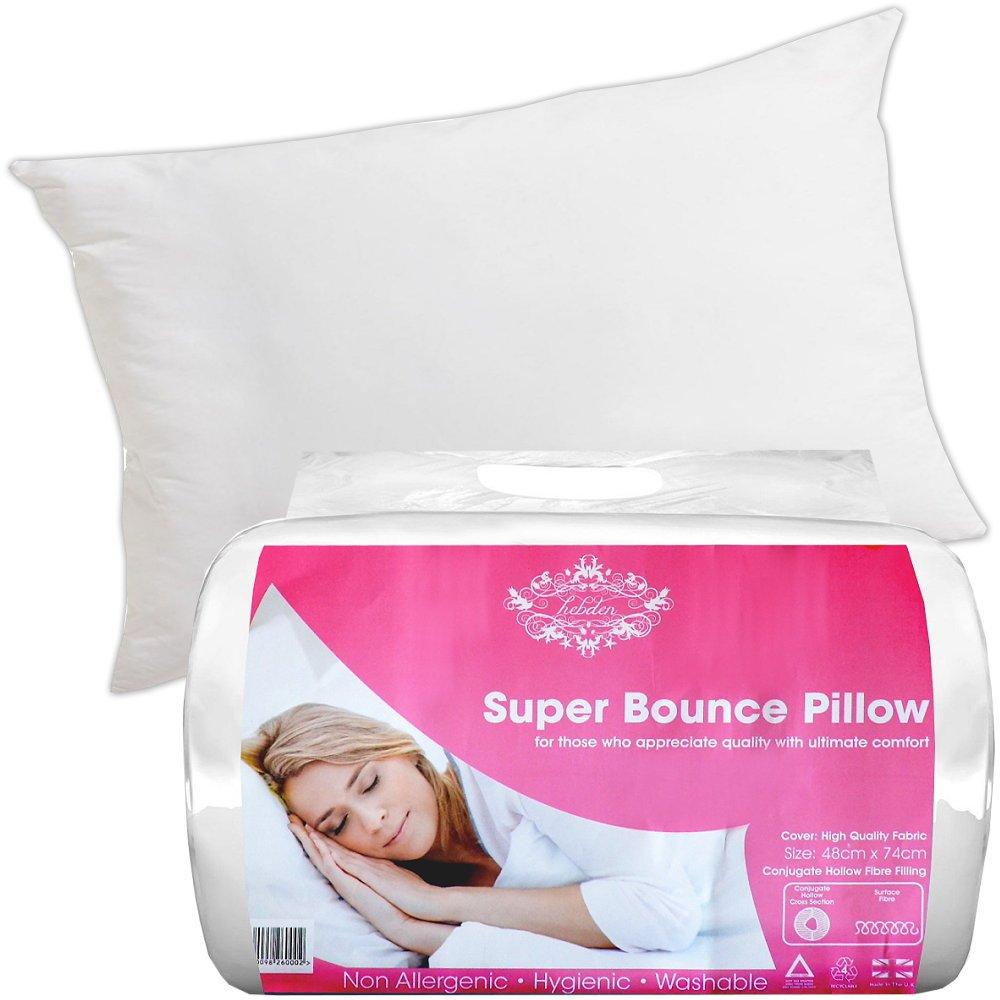 Kopfkissen für Kissenbezug 48x74cm Hohlfaser Allergiefrei waschbar mittelfest
