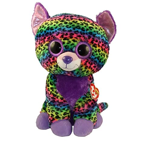 Amazon.com  Ty Beanie Boos Trixie - Leopard Large (Justice Exclusive ... 8cb49fb99b1