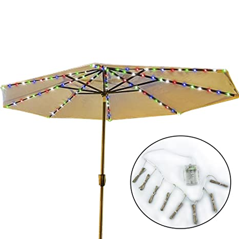 Umbrella Lights, Koffmon 8 Lighting Mode 104 LED With Remote Control Umbrella  Lights Battery Operated