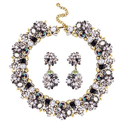 Black Diamond Crystal Necklace - 5