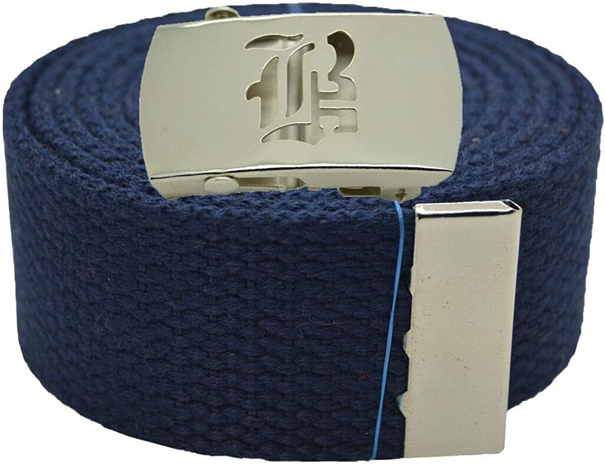 NAVY BLUE #AAAS Stylish Canvas Military Web Belt /& BIGB Silver Buckle 72 Inches