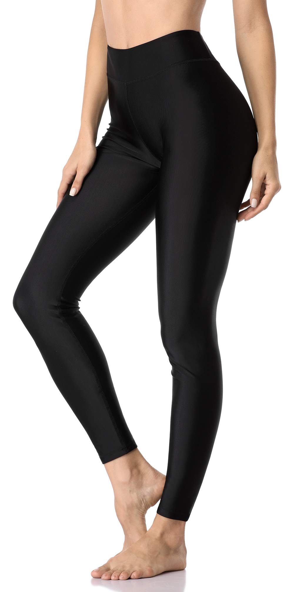 ATTRACO Womens High Waisted Leggings UPF 50+ Diving Swimming Pants Black Medium by ATTRACO