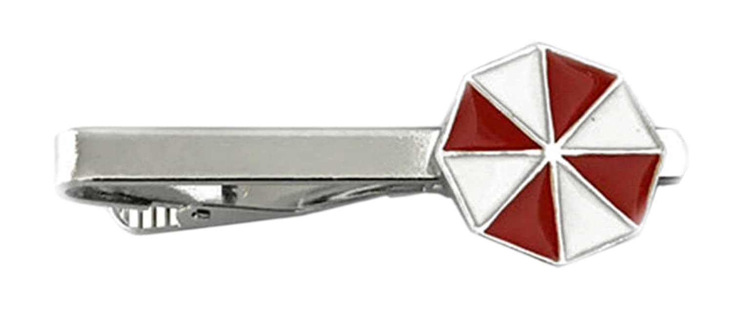 Outlander Resident Evil Umbrella Corp - Movie Series - Tiebar Tie Clasp Wedding Superhero Logo w/Gift Box Outlander Brand