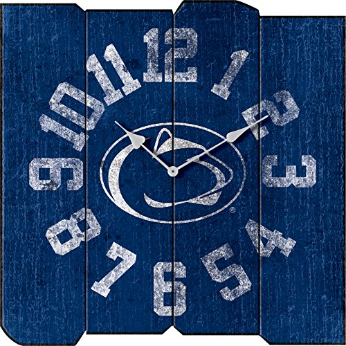 Imperial Officially Licensed NCAA Merchandise: Vintage Square Clock, Penn State Nittany - Penn State Wall Clock