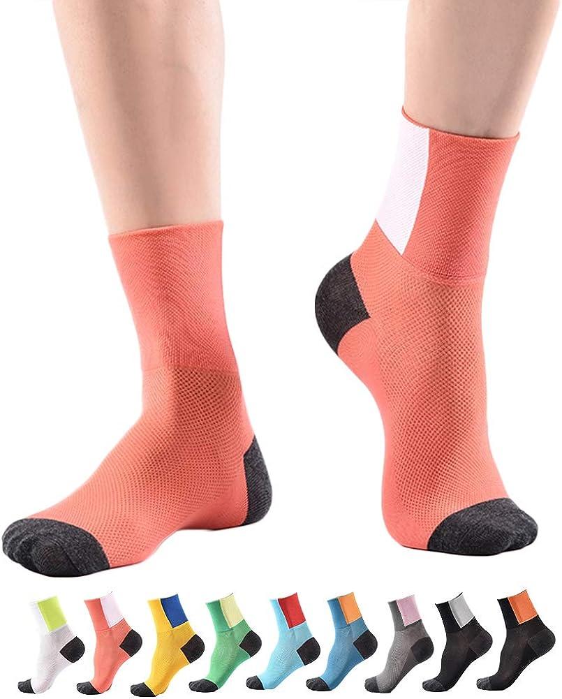 traspiranti sottili Longwu Uomo e donna Sport atletici Corsa alla caviglia Coolmesh Calze a compressione traspiranti