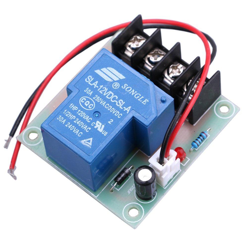 Yeeco 30A High Current 12V Contacteur Relais Interrupteur D'alimentation électrique à Courant Continu de Commutation du Module de Commande Control Board Commutateurs de Relais électrique pour le Contrôle de Chauffe-eau Refroidiss