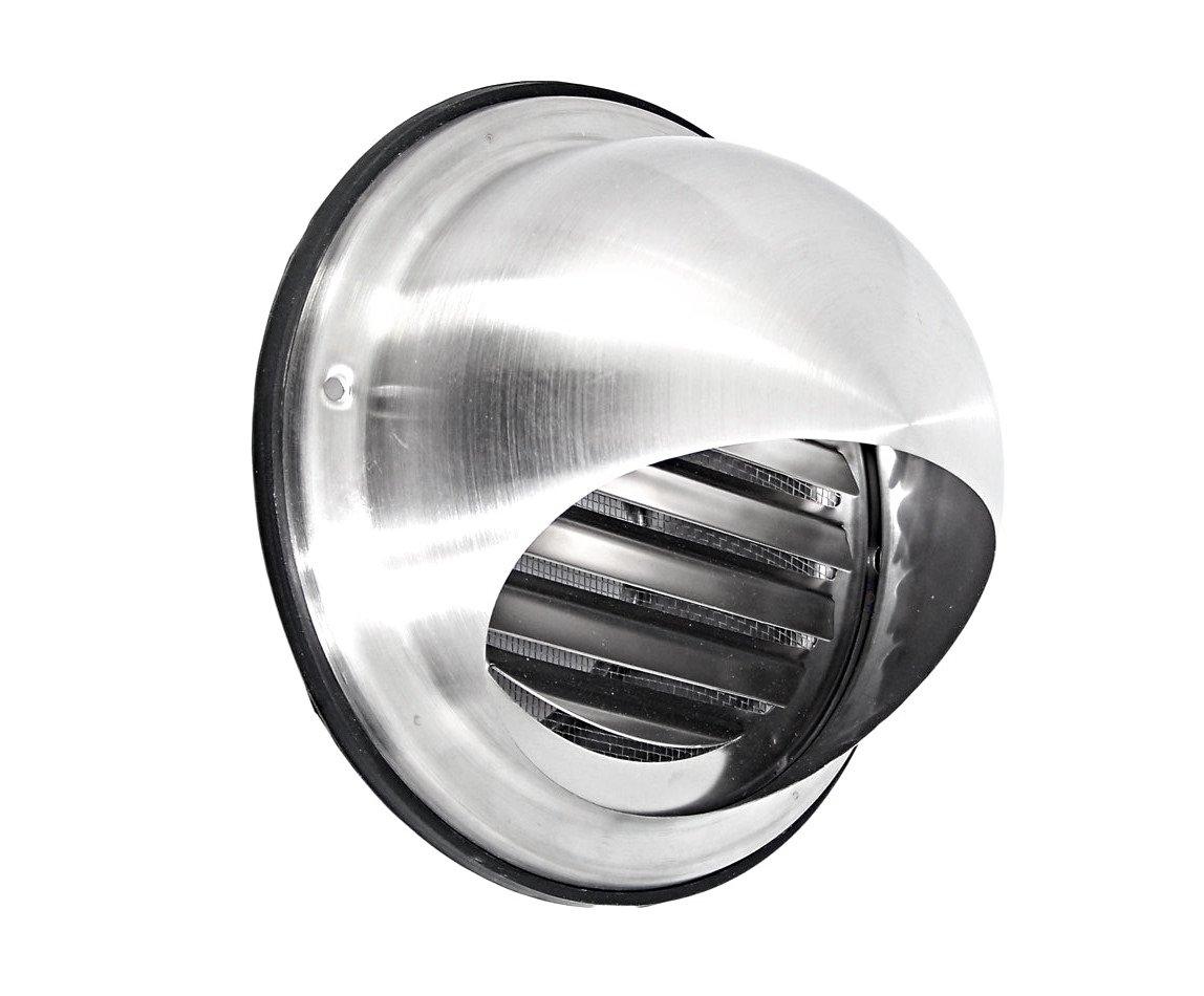 Protezione dalle intemperie Griglia Griglia di ventilazione a forma di sfera 100125150160200mm con zanzariera in acciaio inox V2A Intelmann GmbH