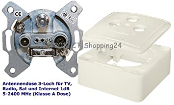 Häufig Antennendose für BK & SAT Unterputz 3-fach 1db: Amazon.de OQ96
