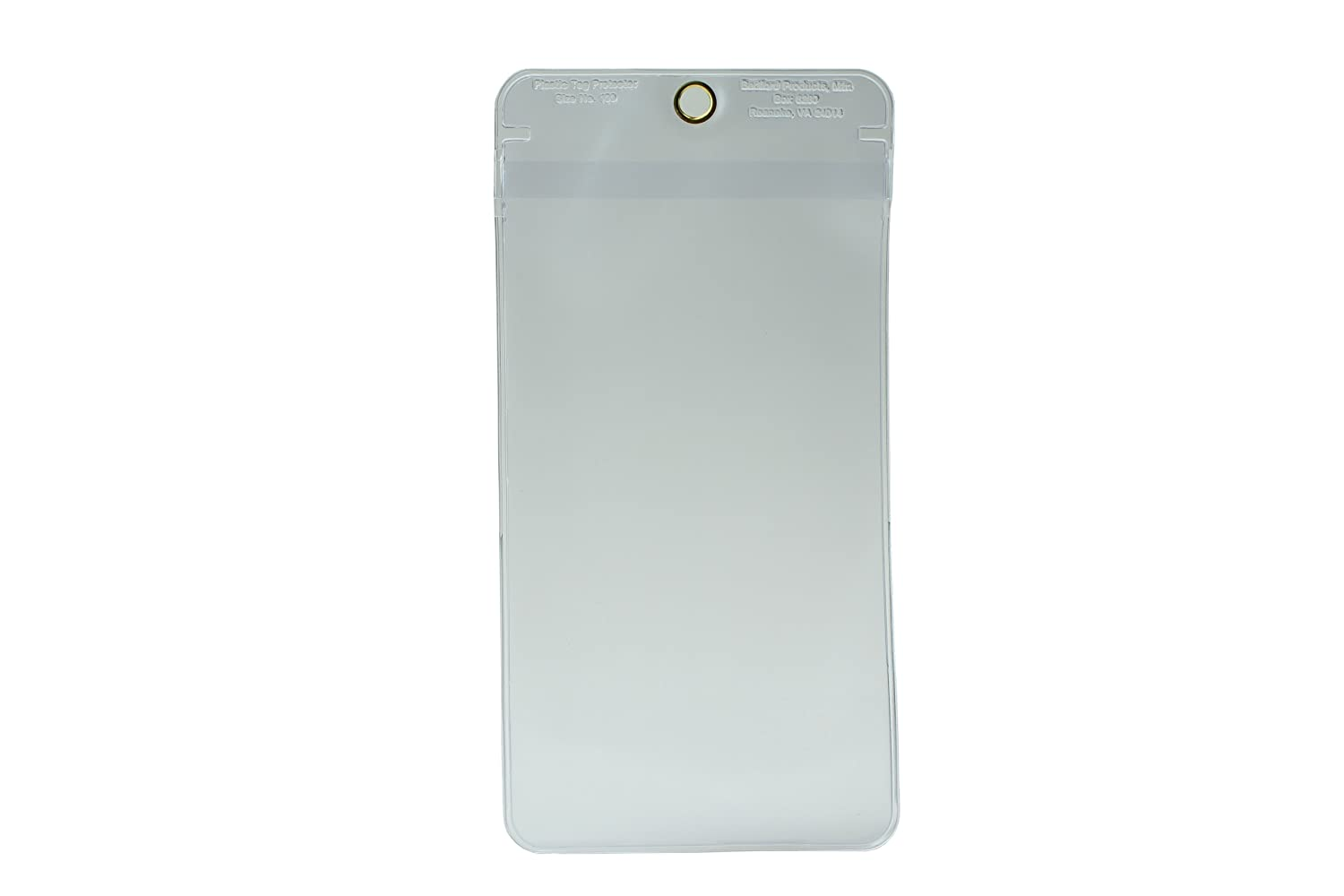 Clear Plastic Overflap Accuform Signs DTH717 Tag Pouch Both Sides Clear Metal Grommet Hang Hole and Overflap Top 7 Length x 4 Width Sealed Edges
