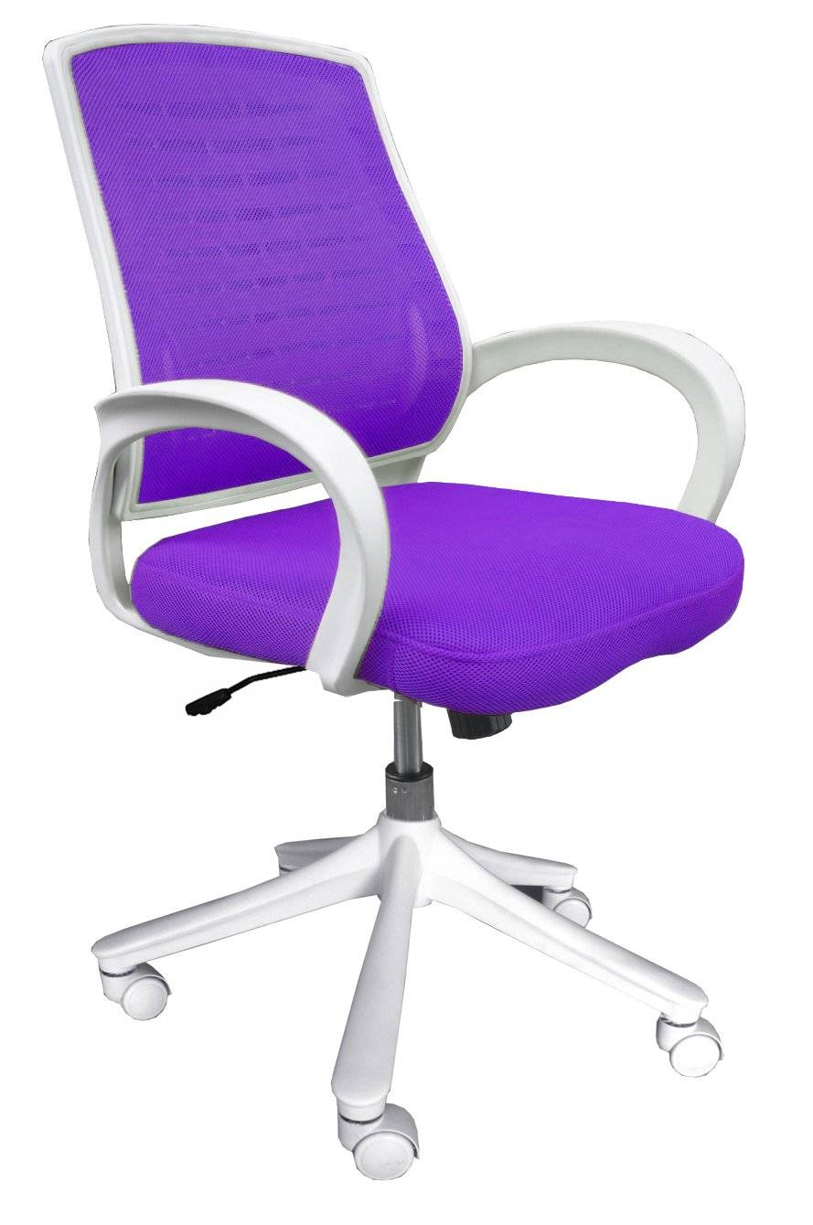 Comfort Products 60-51840013 Iona Mesh Chair, Purple with White Frame