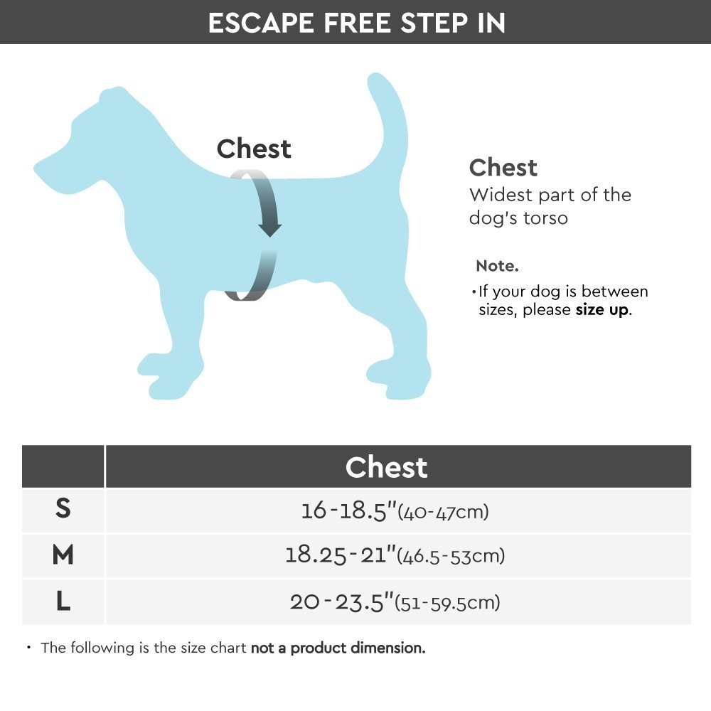 [Old Version] Gooby Escape Free Memory Foam Harness for Small Dogs, Pink, Large by Gooby (Image #5)