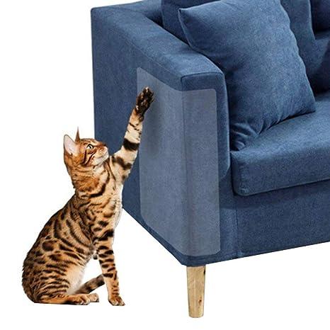 DearMentor-Pet Couch Protector - 2 protectores de vinilo transparente para mascotas con garras de perro y gato ...