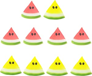 IETONE 10 Pcs Realistic Artificial Fruit, Lifelike Plastic Watermelon Slice, Simulation Fake Watermelon Slice Ornament, Festival Party Decoration Photography Props Basket Display Decor