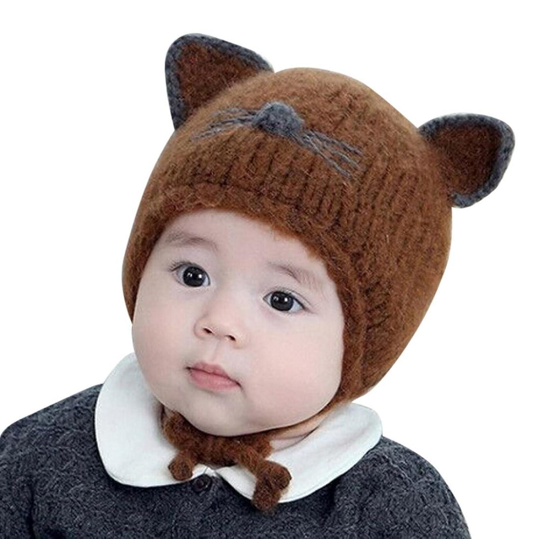 Fashion Cute Toddler Baby Girl Boy Winter Warm Ball Hats Knitted Wool Headgear Children Hat Cap Xshuai  Baby Hat for 3-18 Months Kids