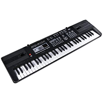 Slinlu Piano de Teclado, música Digital, Piano, Teclado electrónico, 61 Teclas, Teclado de música para niños: Amazon.es: Deportes y aire libre