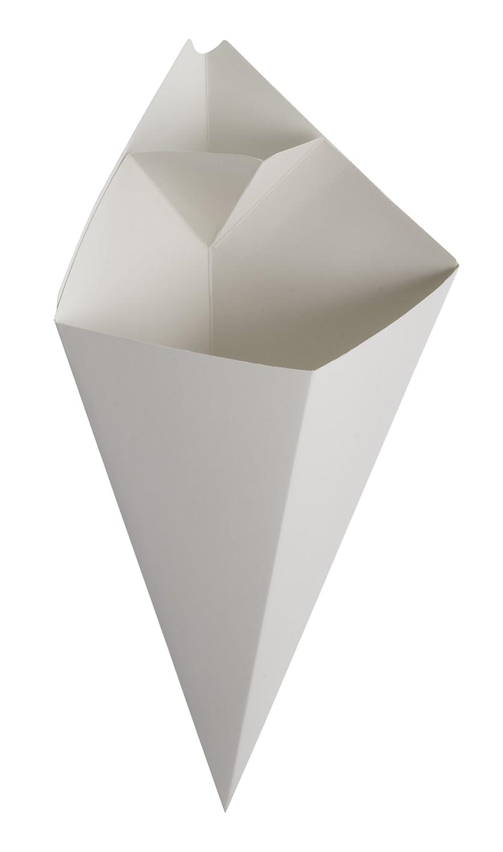 American Metalcraft SQFBCN10 White Square Cardboard Food Cones, 5.5