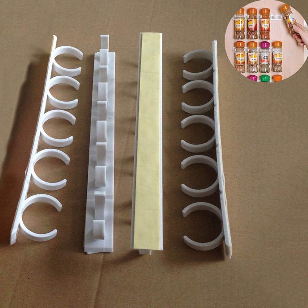 PoeHXtyy 1 unid 2 unids especia estante pinzas pinzas pinzas tiras titular del gabinete para la especia organizador