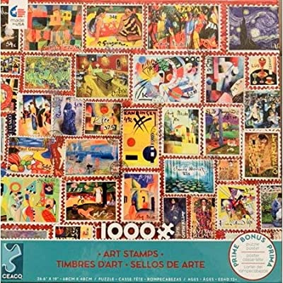 Ceaco 1000 Piece Puzzle- Art Stamps: Toys & Games