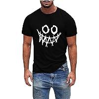 QiFei Heren ronde hals bovendeel tops basic mannen T-shirt heren casual shirts heren fitness tops smile print korte…