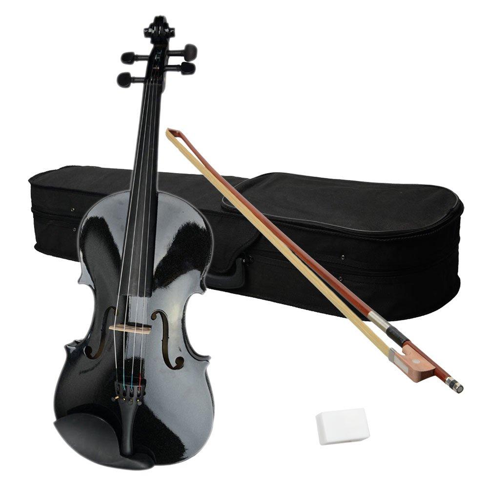 VIPITH 15'' Acoustic Viola Case Bow Rosin Black Include an Acoustic Viola, case, Bow and Rosin in a Pack