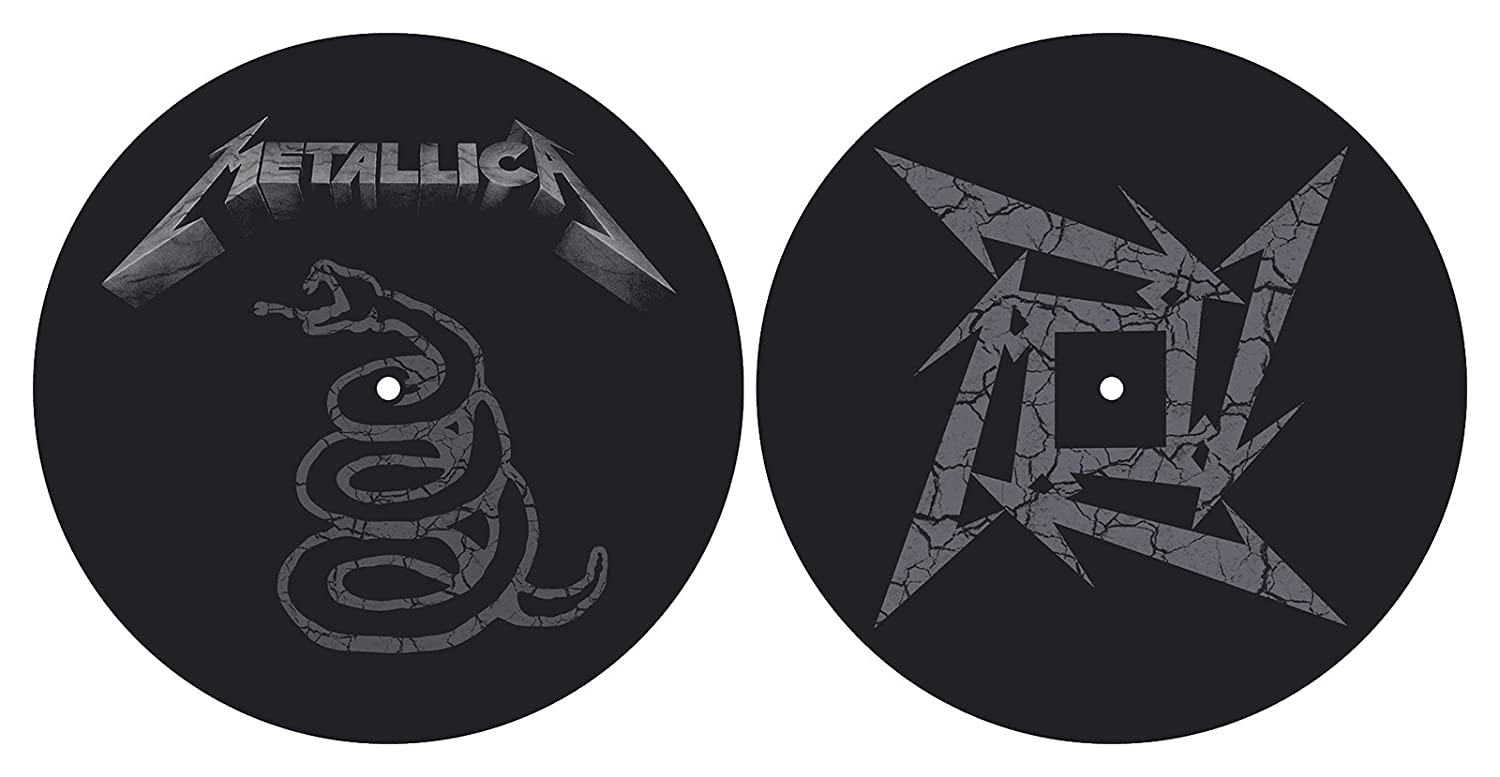 Metallica 'The Black Album' Turntable Slipmat Set Razamataz