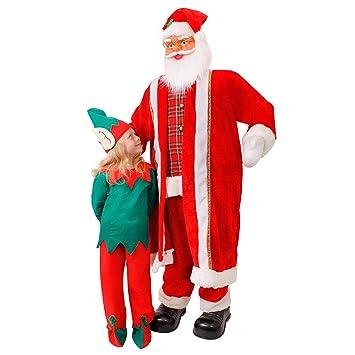 6ft CANTO Y BAILE Papá Noel - 182cm alto Papá Noel decoración Navidad - Gigante Papá