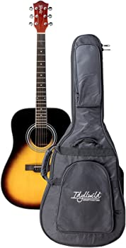 Monoprice 610013 Idyllwild Foothill Acoustic Guitar with Gig Bag Vintage