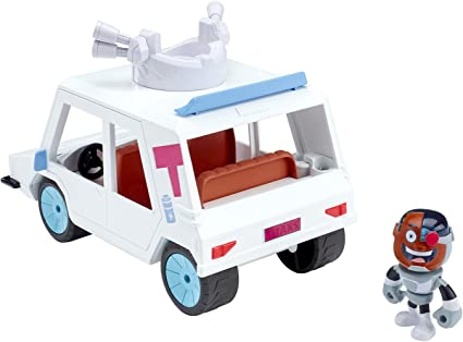 Teen Titans Go DXR06 T-Car and Cyborg Vehicle//Figure