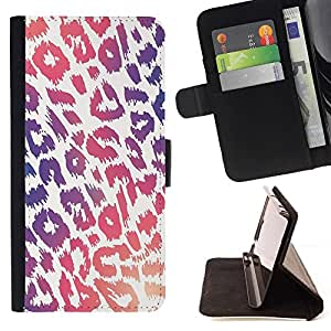 Momo Phone Case / Flip Funda de Cuero Case Cover - Modelo púrpura rosado de la piel blanca - Samsung ALPHA G850