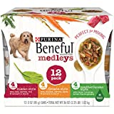 Purina Beneful Medleys Tuscan, Romana and Mediterranean Style Adult Wet Dog Food Variety Pack – (12) 3 oz. Cans