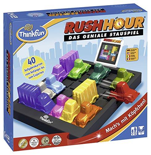 ThinkFun Rush Hour, Logik- und Strategiespiel, für Kinder und Erwachsene, Brettspiel ab 1 Spieler, ab 8 Jahren 1