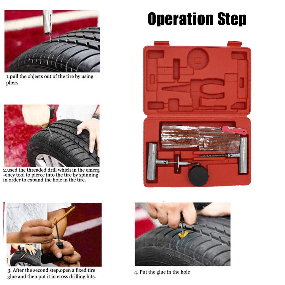 Tire Repair Near Me Open Sunday >> Amazon Com Jonathan Shop 57pcs Tire Repair Kit Flat Tire