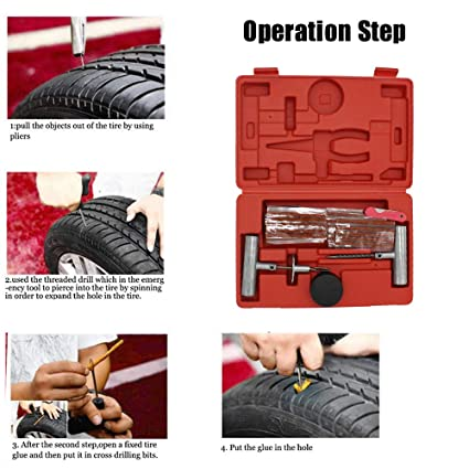 Tire Repair Near Me Open Sunday >> Amazon Com Jonathan Shop 57pcs Tire Repair Kit Flat Tire