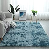 Modern Shaggy Rugs Fluffy Soft Touch Dazzle Sparkle Area Rug Carpet Large for Living Room Bedroom Floor Mat (Sky Blue…