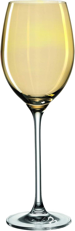 Leonardo Wei/ßweingl/äser Lucente Weingl/äser elegante Wei/ßweinkelche 400-ml F/üllmenge 6 teilig gelb gold 061775