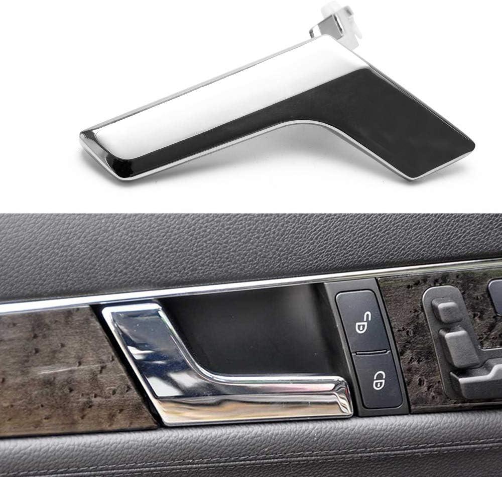 PTNHZ Chrome Metal Interior Passenger Door Handle Repair Right for 2008-2015 Mercedes W204 Chassis C-Class C63 AMG C250 C350 GLK300 GLK350 GLK250