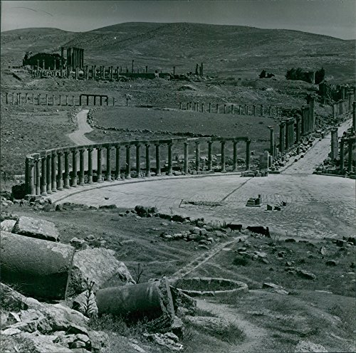 Vintage Photo Of A View Of Jerash  An Ancient Ruins In Jordan