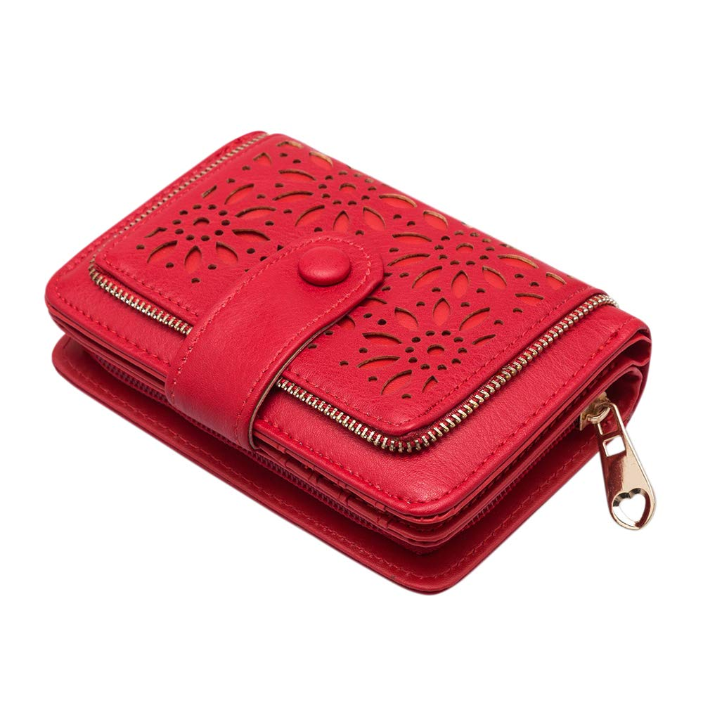 GLITZALL Women's Wallet RFID Blocking PU Matte Leather Large Capacity Girl Purse (Khaki) VKP1397-BRN