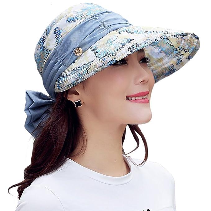 Mujeres Hembra Verano Plegable Anti-UV Sombrero para Sol Gorras de béisbol  Gorra de Plato 7ac879764b5