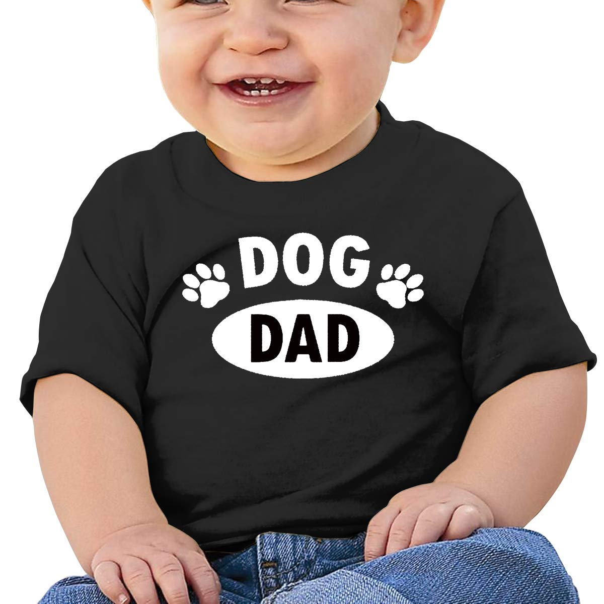 Paw Dog Dad Toddler Short-Sleeve Tee for Boy Girl Infant Kids T-Shirt On Newborn 6-18 Months