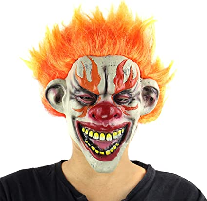 BIG MOUTH CLOWN LATEX FACE MASK SCARY HALLOWEEN HORROR