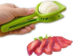 Best Handy Slicer Egg Slicers Slices Eggs Mushroom Strawberry Kiwi Soft Cheese Steel Blades With Handle Kitchen Utensil (Multipurpose Slicer with Seven Blades)