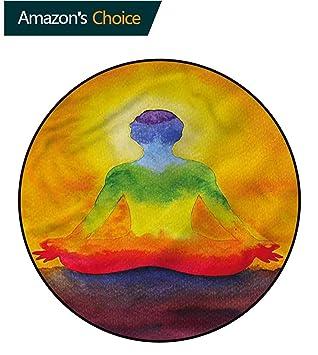 Amazon.com: RUGSMAT Alfombra redonda de área de chakra ...