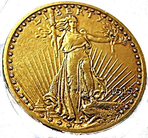 1915 S $20 St. Gaudens Gold Double Eagle Coin - Very good condition