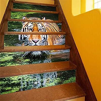 Escalera Pegatinas Sel Adhesivo Impermeable Renova Creativo Pegatinas para Escaleras 6 Unidades Escaleras Pegatina Escaleras Etiqueta de La Pared Art Deco Murales de Tela de Pared Dormitorios Sala de: Amazon.es: Hogar