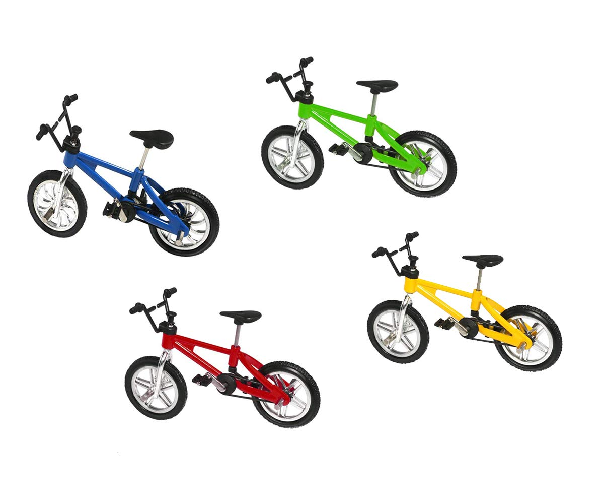 4 Pack Finger Mountain Bike Mini Extreme Sports Finger Bicycle Cool Boy Toy Creative Game Set Collections