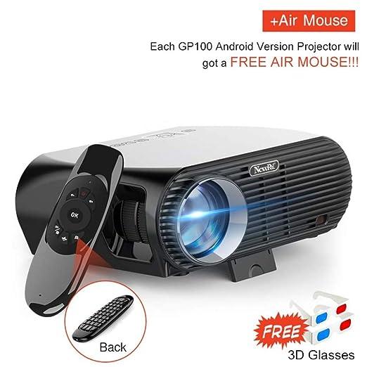 KAIDILA Proyector, proyector del LED de 3500Lumens GP100 hasta HD ...