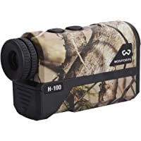 Wosports Hunting Range Finder, Upgraded Battery Cover - Laser Rangefinder Archery Bow Hunting Ranging, Flagpole Lock, Speed - Free Battery