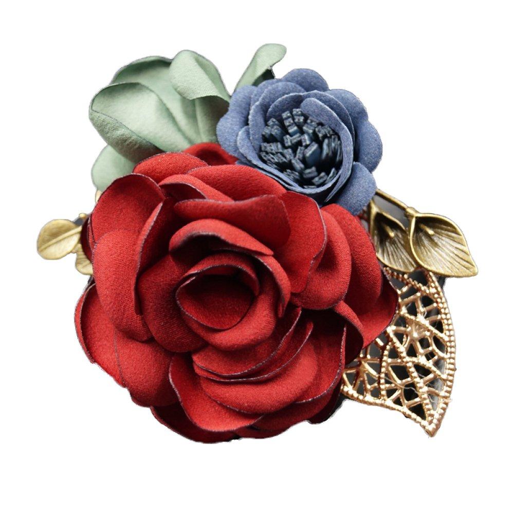 Brooch Shawl Scarf Wedding Rhinestone Suit Cloth Flower Decoration