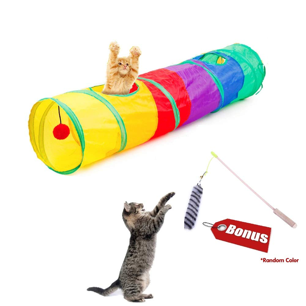SweetMax Pet Cat Tunnel, Rainbow Cat Tunnel